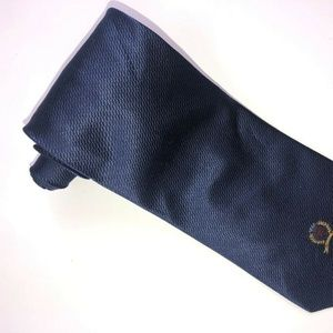 Tommy Hilfiger Navy Blue 100% Silk Men's Tie T170